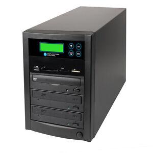 USB SD CF Memory Stick DVD/CD to 2 Target DVD CD Disc Back-Up Duplicator