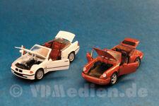 3er BMW weiß + Porsche 011, rot (Dream Car Collection), M 1:43 Schabak SR 140