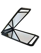 Large Hand Mirror with Double Handle - Rectangular Hand Held Mirror with