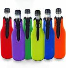 Beer Bottle Cooler Sleeves for Party - Collapsible Neoprene Sleeve with Zipper
