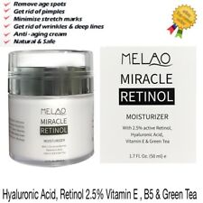 Retinol 2.5%Face Cream Serum Wrinkles Anti Ageing Hyaluronic Acid Vitamin E