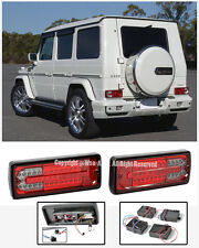 For 02-Up Benz G-Class W463 Rear Bumper LED Red Smoke Lens Tail Light Lamps