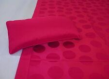 Robert Allen Coverlet Bed Scarf Throw Runner & Accent Pillow Cranberry Circles