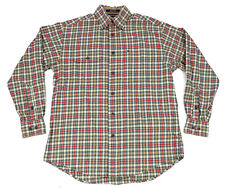 Tommy Hilfiger Mens Shirt Small Multi-Color Plaid Button-Down Cotton Long Sleeve