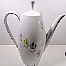 Mid-Century Schumann Arzberg Floral Designed Coffee Pot Flowers