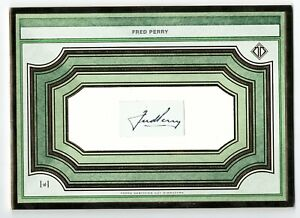 FRED PERRY 2019 2020 TOPPS TRANSCENDENT TENNIS OVERSIZED CUT AUTO SIGNATURE 1/1