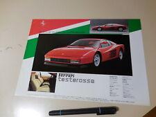 FERRARI  testarossa Japanese Brochure CORNES