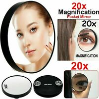20X Magnifying Make Up Mirror Handheld Eyebrow Tweezing Eye Makeup Pocket Vanity