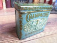 CHAMPAGNE SPARKLETS TOBACCO TIN CUT VERTICAL UPRIGHT POCKET CAN FALK USA