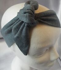 BLUE KNOTTED JERSEY HEADWRAP HAIR WRAP HEADBAND HEAD BAND TIE LADIES NEW
