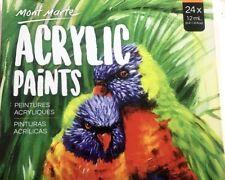 NEW 24pcx12ml Mont Marte Artist Acrylic Paints Set Artist Arts Craft Supply