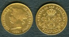 1864 Spanish Philippine ISABEL 2a Reyna 4 Peso GOLD Coin  XF/AU