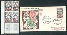 France - 1959 - N°1189 Floralies Paris - bloc de 4 + Fdc/enveloppe 1er jour -