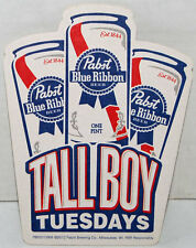Pabst Blue Ribbon PBR Tall Boy Tuesdays Beer Bar Coaster NEW!!