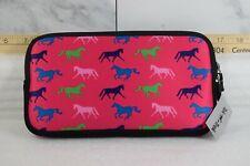 Tek Trek Neoprene Zipper Bag with Galloping Horses Graphic - Pink