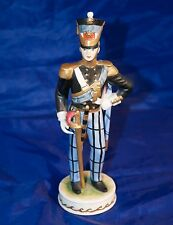 Rudolf TRIESTE Dresda Offizier 1850 Porcellana Figura 23cm non firmate