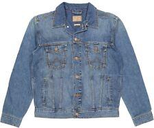Wrangler hombre Diseñador marca Clásico vaquero chaqueta Denim piedra media XXL