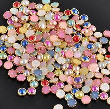 Pearl Charm Glitter Tips 3D Nail Art Alloy Decor Bling Rhinestone DIY 4m 200 Pcs