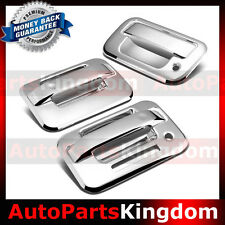 04-14 Ford F150 Overlay Chrome 2 Door Handle+keypad+no PSG KH+Tailgate Cover Kit