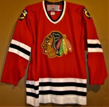 CHICAGO BLACKHAWKS RED MICRO MESH JERSEY BY CCM IN SIZE LARGE