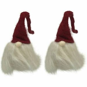 2 Gnome with Felt Hat Ornaments