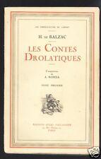 Les contes drolatiques Honoré de Balzac A. Robida  (circa1927) 3 tomes