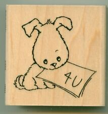 STAMPENDOUS rubber stamp FOR U PUPPY wood mounted, Animals