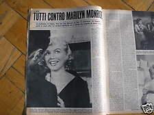 Marilyn Monroe Fotoarticolo Sur Loisirs 1960 Italian Magazine