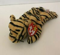 Ty Beanie Baby, Stripes The Tiger, 1995, New With Tag 4th Generation, Retired