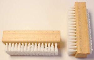 Nagelbürste 2er Holz Bürste Buchenholz Doppelseitige Nagelbürsten Handwaschbürst