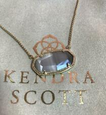 Kendra Scott Delaney Grey Cat's Eye Gold Plated Necklace NWT