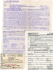 US Navy 1956: Active Duty Orders/Parking/Exchange Card/Naval Base, Newport R.I.