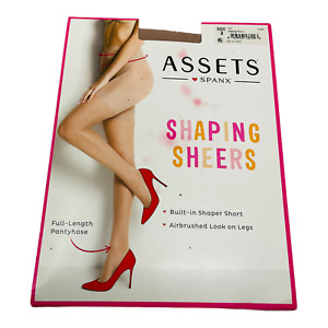 Spanx Assets High-Waisted Shaping Sheers Pantyhose Size 3 Nude Style 1181