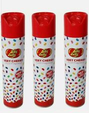 3 X JELLY BELLY  DRY ROOM SPRAY FRAGRANCE 300ml  VERY CHERRY -  AIR FRESHENER