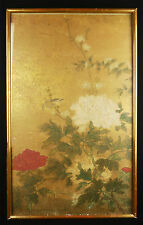 Arte asiatica : Antica dipinto e lacca per capelli su carta Cina CINESE