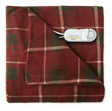 "Biddeford Blankets Electric Throw Blanket Cranberry Plaid Size: 62"" x 50"" NWT"