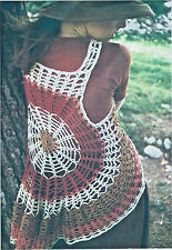 "Ladies cobweb waistcoat crochet pattern 34""/36"" cotton 316"