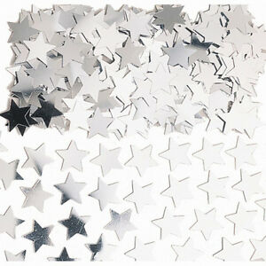 Silver Stars Table Confetti Silver Star Shape Table Decoration Silver Party
