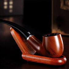 Durable New Wooden Enchase Smoking Pipe Tobacco Cigarettes Cigar Pipes Gift