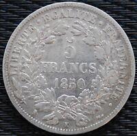 FRANCE 5 FRANCS CERES 1850 K