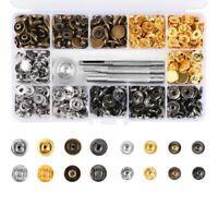 124Pcs Leather Snap Fasteners Kit 12.5Mm Metal Button Snaps Press Studs 4 I R8I5