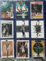 Tim Duncan Insert/Basketball Card Lot of 9, San Antonio Spurs HOF