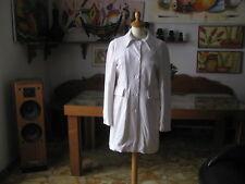 CAPPOTTO  Donna  in Velluto bianco foderato  taglia M -  Made in Italy