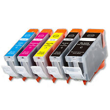 5PK Combo Printer Ink chipped for Canon PGI-5BK CLI-8 MP500 MP530 MP600 MP610