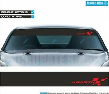 WINDSCREEN BANNER FOR FIAT PUNTO 500 ABARTH SUNSTRIP STICKER DECAL ALL COLOURS