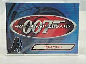 2002 Rittenhouse JAMES BOND 007 - 40th ANNIVERSARY Preview  6 Card Set JB1 - JB6
