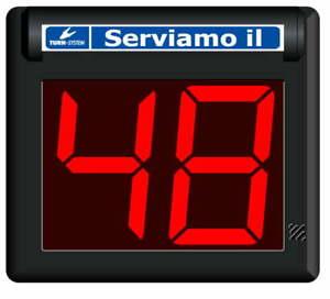 Display Eliminacode a LED 2 Cifre Visel MiniPoint TD2 Nero