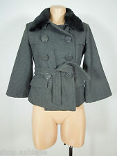 MISS LILI Wool Blend Gray Short Jacket size S