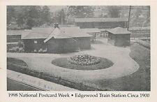 Edgewood Train Station Circa 1900 Edgewood PA Reproduction Postcard