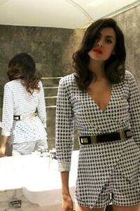 Sass & Bide NEW RULES Check Playsuit NWT RRP $390 Size 42 12 Free Post Novateur